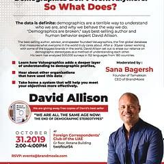 Tamakkan presents Author & Trends Expert David Allison